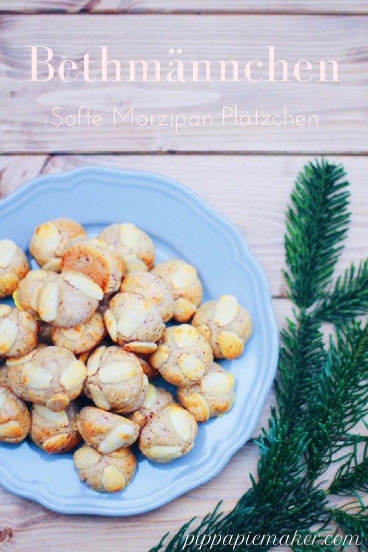 Diese Bethmännchen sind ganz softe Marzipan Plätzchen. Sie sind ganz schnell gemacht und für alle Marzipanfans zur Weihnachtszeit ein Muss!