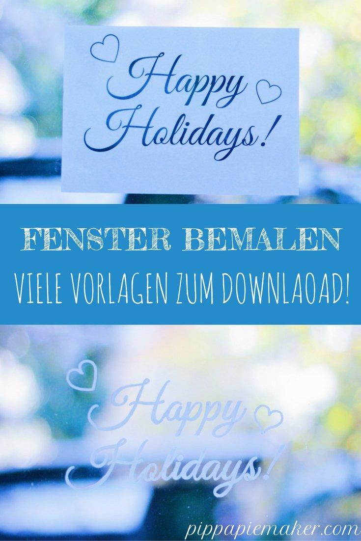 Fenster bemalen by pippapiemaker.com