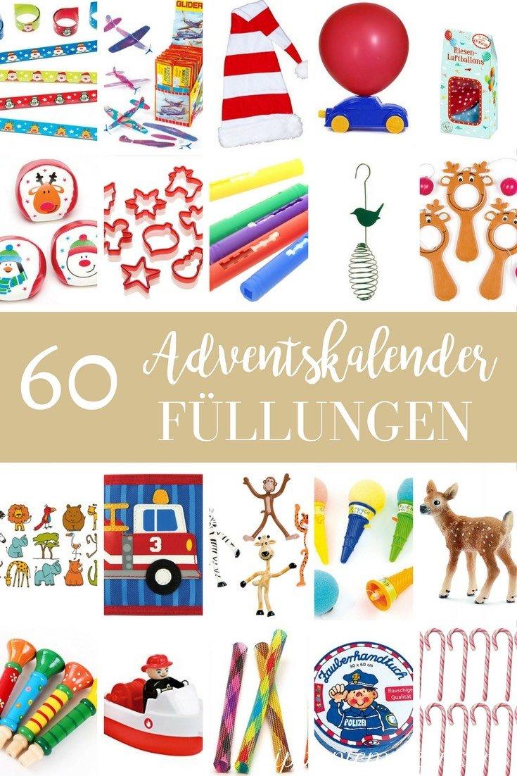 Ich habe über 60 günstige Ideen zum Adventskalender befüllen für Kinder gesammelt. Lass dich inspirieren!