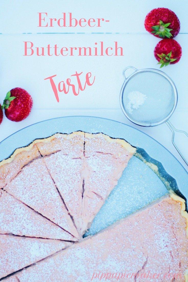 Erdbeer-Buttermilch Tarte by pippapiemaker.com