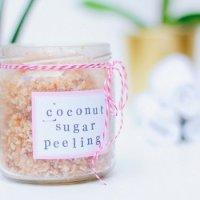 Selbstgemachtes Kokos-Zucker-Peeling