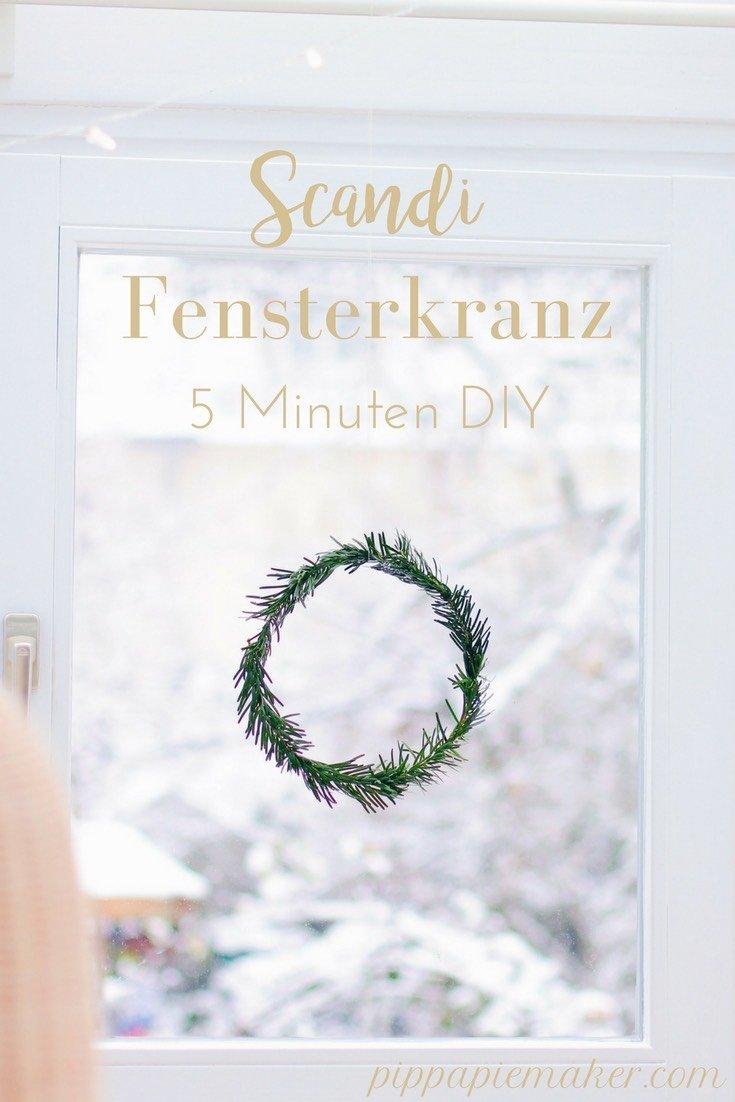 Ist es dir zu aufwendig ganze Weihnachtskränze zu binden? Dieser Scandi Fensterkranz ist in 5 Minuten fertig und sieht wunderschön aus als weihnachtliche Fensterdeko! Perfekt für Minimalisten und alle, die wenig Zeit haben.