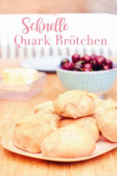 Schnelle Quarkbrötchen ohne Geh-Zeit. Sie sind fluffig und lecker und schnell mal eben spontan gemacht!