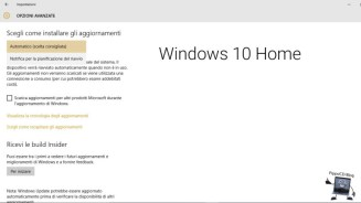 windows 10 home aggiornamenti