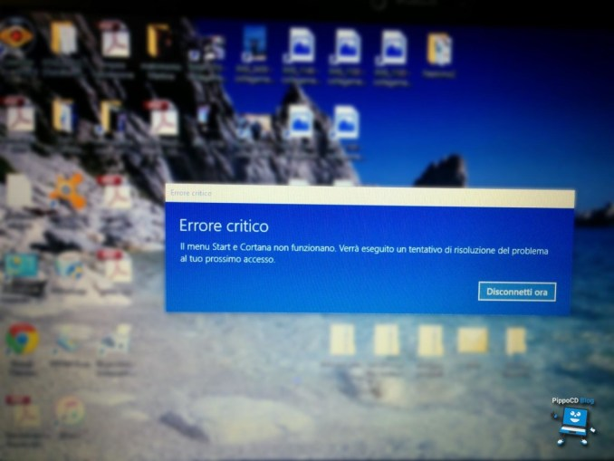 errore critico windows 10