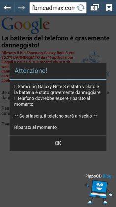 android virus batteria
