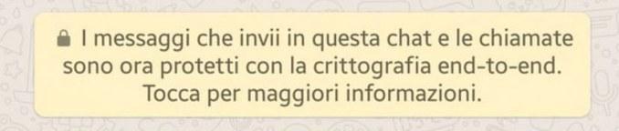 Whatsapp crittografia messaggio