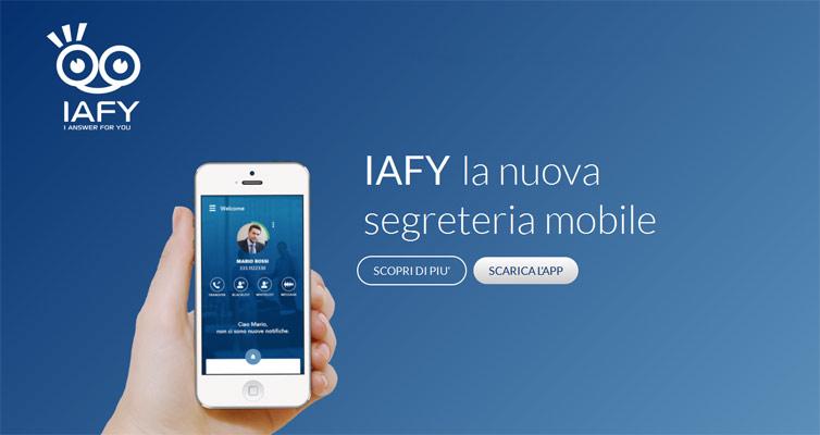 iafy app segreteria smartphone