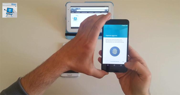 Confronto lettore impronte digitali smartphone