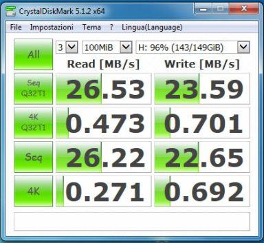 orico6518us3 test USB2 maxtor hdd