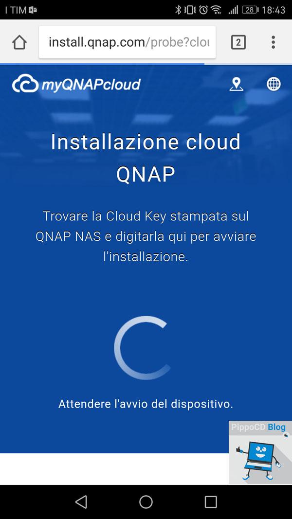 QNAP installazione cloud