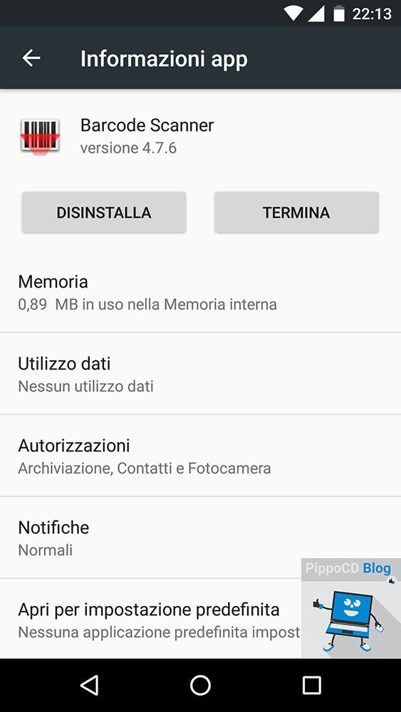 Informazioni app