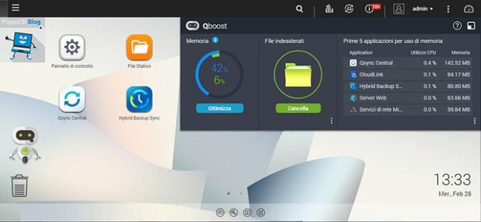 QNAP QTS 4.3.4 Qboost