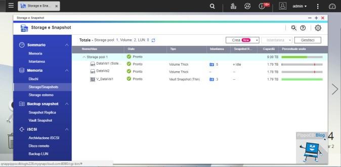 QNAP QTS Storage e Snapshot