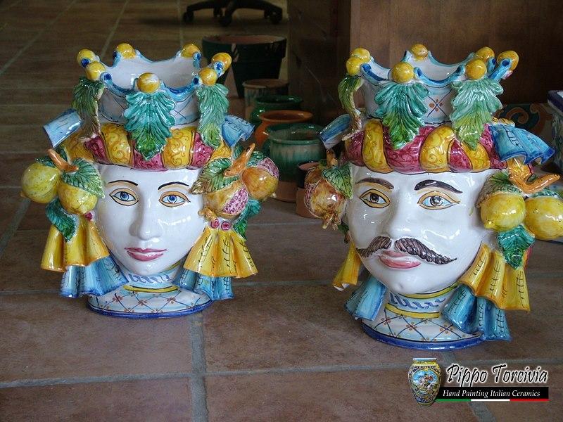 Scheda prodotto coppia teste di moro Ceramiche Torcivia srl