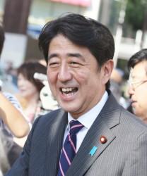 der neue Ministerpräsident Shinzo Abe