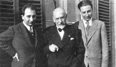 Stefano Pirandello con il padre Luigi e il fratello Fausto (Roma, 1931)