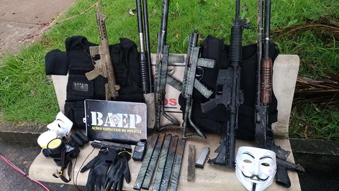 7 suspeitos de explodir caixas eletrônicos são mortos durante ação da PM