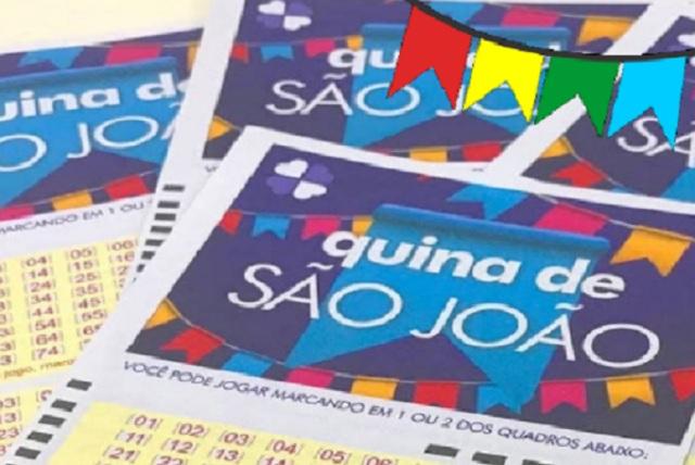 Cinco apostas foram vencedoras da Quina de São João 2020