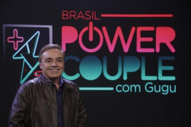 Gugu na época em que apresentava o 'Power Couple' (Foto: Reprodução)