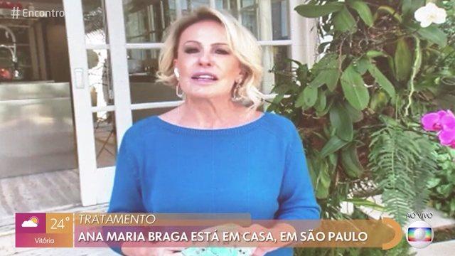 Ana Maria Braga fala sobre o câncer no 'Encontro com Fátima Bernardes'