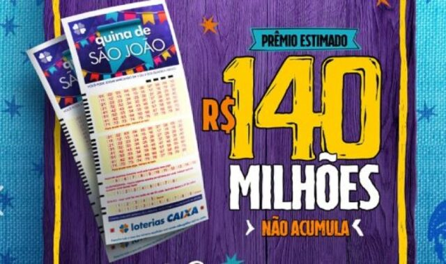 Quina de São João 2020 pode pagar R$ 140 milhões; veja como apostar