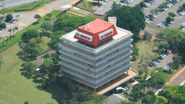 Foto do prédio da Bosch, em Campinas