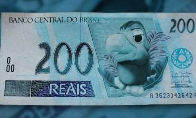 Uma foto do Louro José estampando a nota de R$ 200
