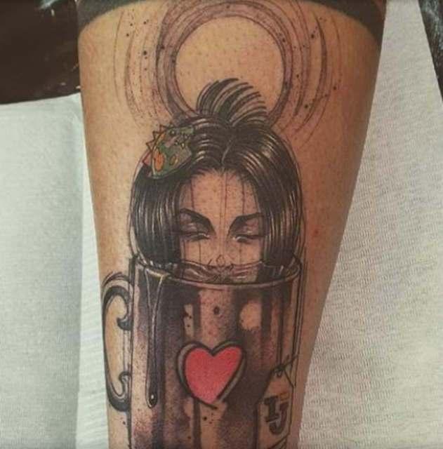 uma foto da tatuagem