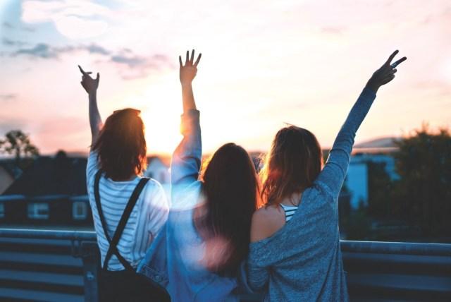 uma foto com os amigos
