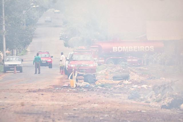 Eco ponto é incendiado em Piracicaba