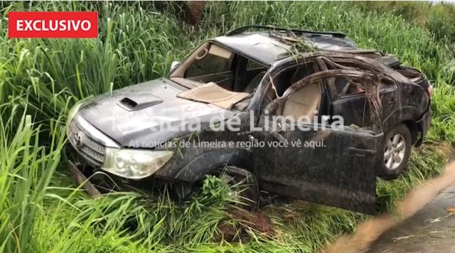Em Iracemápolis (SP): duas crianças ficam feridas após carro capotar