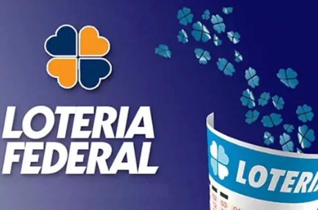 Uma foto do volante de apostas da Loteria Federal