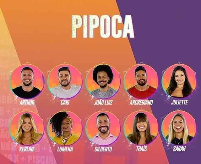 Participantes do Grupo Pipoca - Enquete BBB