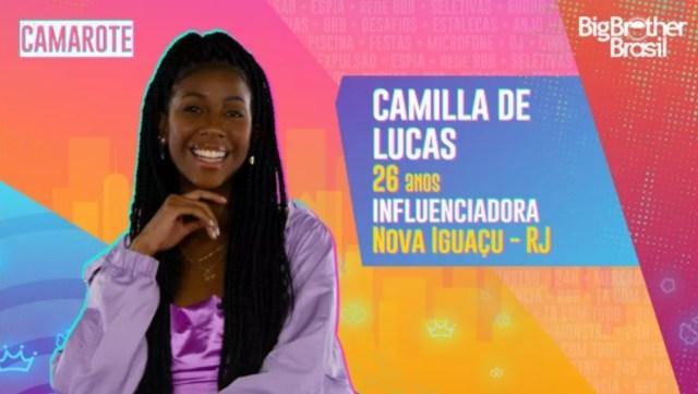 Veja quem é Camilla de Lucas do Grupo Camarote do BBB21