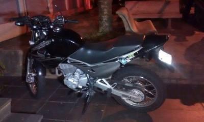 Moto usada no crime era do próprio assaltante - Foto: Valter Martins / Piracicaba em Alerta