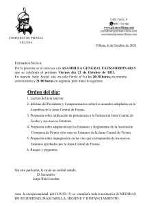 junta extraordinaria comparsa de piratas octubre 2021 | Piratas Villena
