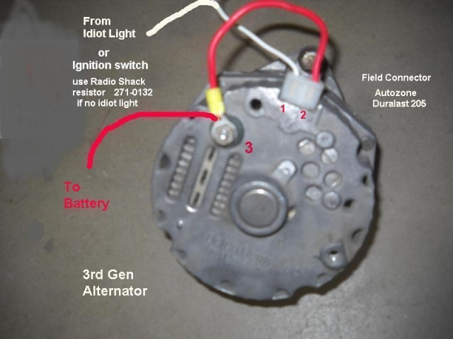 Alternator Regulator Wiring Diagram As Well As 2wire Gm Alternator