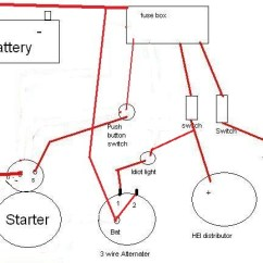 Simple Race Car Wiring Diagram 2005 Nissan Altima Stereo Chevy Hei Distributor | Get Free Image About