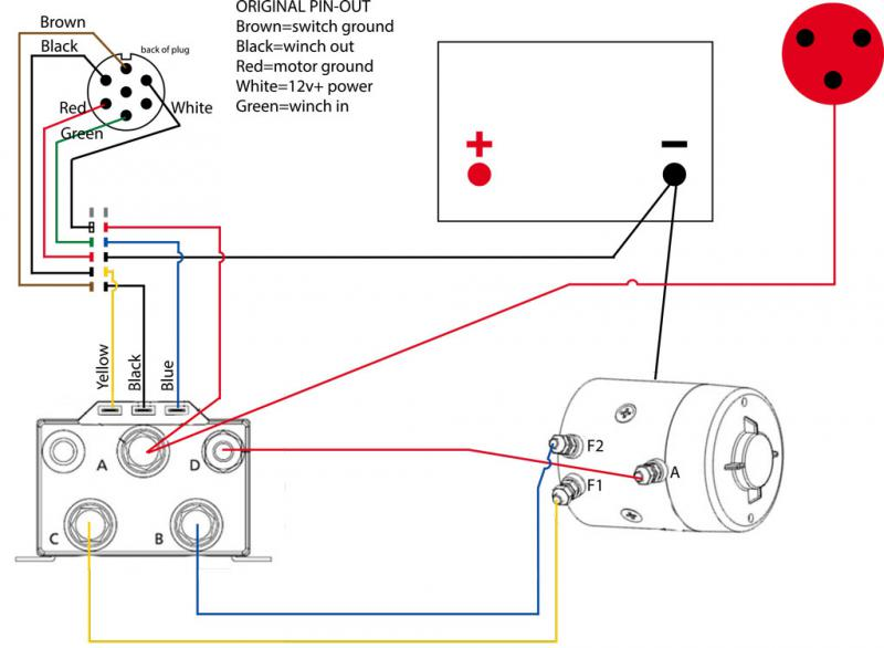Winch Wiring Diagram Warn M12000 Winch Warn Winch Remote Wiring