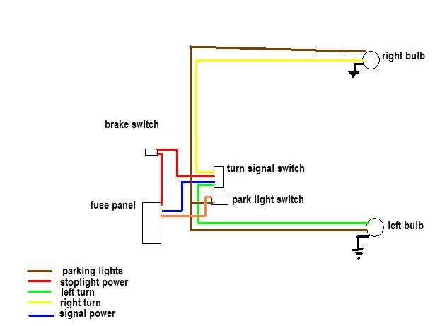 grote turn signal switch wiring diagram pioneer car radio stereo audio olds schematic brake running light pirate4x4 com 4x4 and