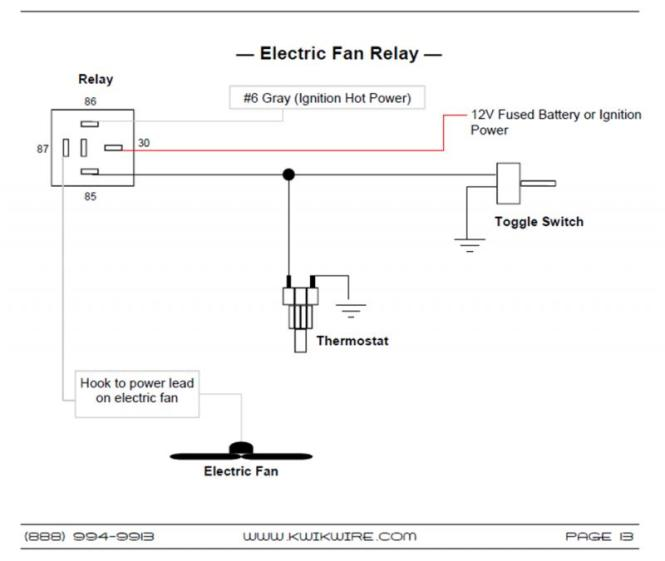 cooling fan relay wiring diagram cooling image cooling fan relay wiring diagram jodebal com on cooling fan relay wiring diagram