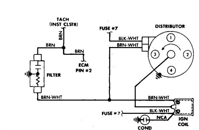 tachometer wiring diagram for point system