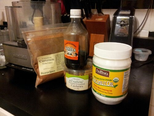 Cashew Butter ingredients