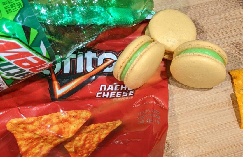 Doritos and Mountain Dew Macarons