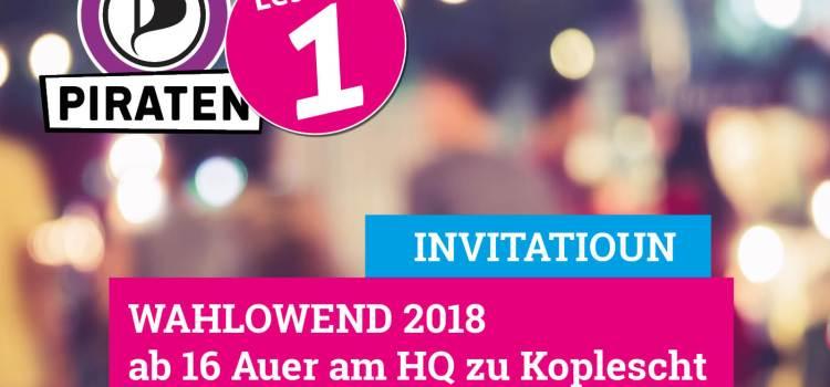 Wahlowend 2018 am HQ