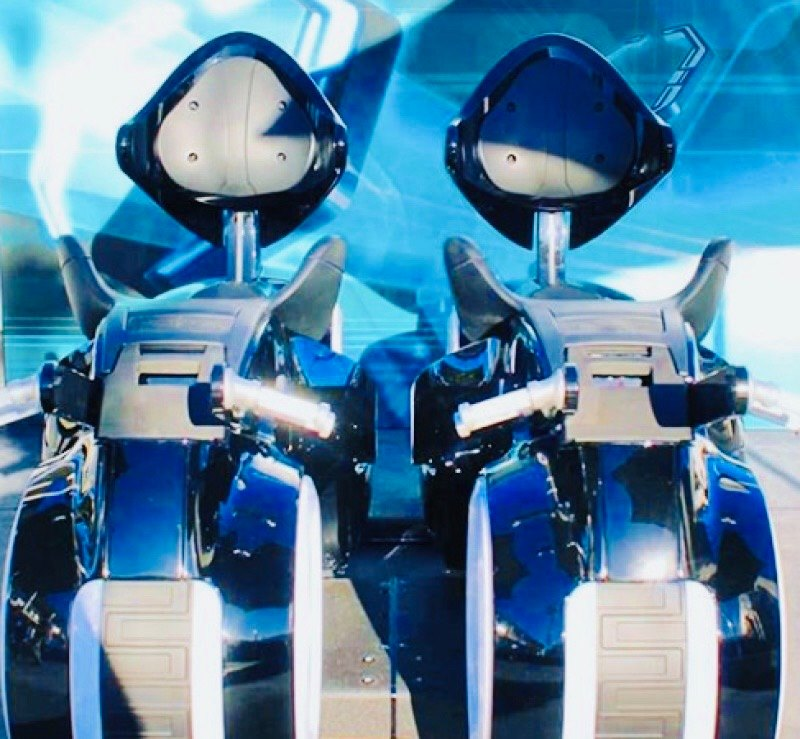 Tron Lightcycle Run Ride Vehicles On Display At Walt