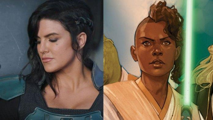 Gina Carano as Cara Dune and an woman of color Jedi