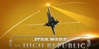 Star Wars the High Republic logo with starlight beacon
