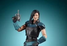 Gina Carano, Cara Dune action figure holding a blaster